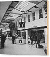 passenger concourse of Glasgow Buchanan street bus station Scotland UK Wood Print
