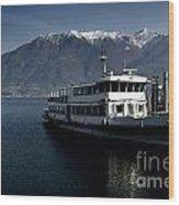 Passenger Ship On The Lake Wood Print