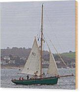 Passing St Mawes Wood Print