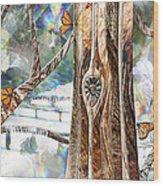 Passing Through Air Wood Print by Leslie Kell