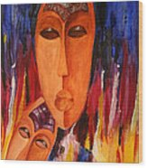 Passion 2007 Wood Print by Simona  Mereu