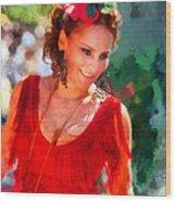 Passionate Gypsy Blood. Flamenco Dance Wood Print