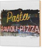 Pasta Wood Print by Geoff Strehlow