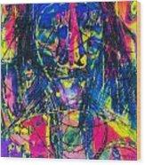 Pastel Man 17 Wood Print