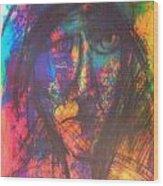 Pastel  Man 18 Wood Print