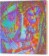 Pastel Man 22 Wood Print