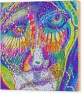 Pastel Man 23 Wood Print