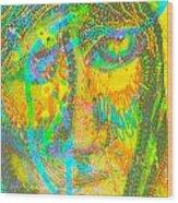 Pastel Man 27 Wood Print