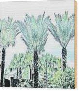 Pastel Palms Wood Print