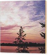 Pastel Pink Sunset Wood Print