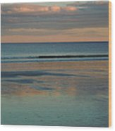 Pastel Reflections On The Coast Wood Print
