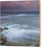 Pastel Storm Wood Print by Mike  Dawson