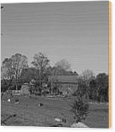Pastures And Farm Wood Print