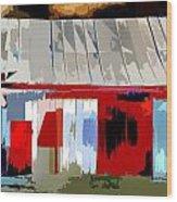 Patchwork Barn Wood Print