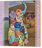 Patchwork Elephant Wood Print