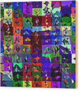 Patchwork Quilt Wood Print