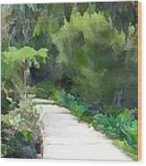 Path Into The Green Wood Print