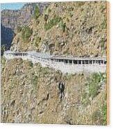 Path Leading To The Shrine Of Vaishno Devi Wood Print