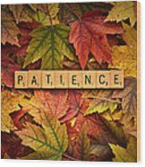 Patience-autumn Wood Print