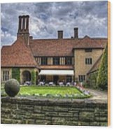 Patio Restaurant At Cecilienhof Palace Wood Print