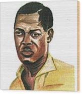 Patrice Lumumba Wood Print