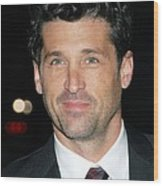 Patrick Dempsey At Arrivals For Avon Wood Print