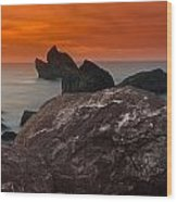 Patrick's Point Dusk Panorama Wood Print by Greg Nyquist