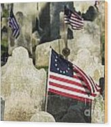Patriot Cemetery Wood Print