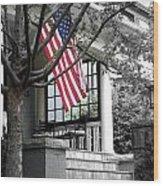Patriot Porch Wood Print