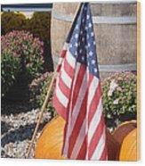 Patriotic Farm Stand Wood Print