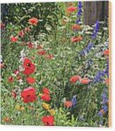Patriotic Flowers Wood Print