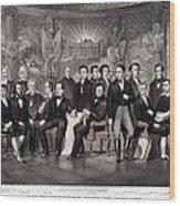 Patriotic Irish-american Print Ca. 1875 Wood Print by Everett