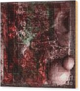 Pattern Down - Red Wood Print by Monroe Snook