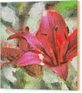 Patty's Perfect Lily Wood Print