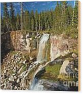 Pauina Falls Overlook Wood Print