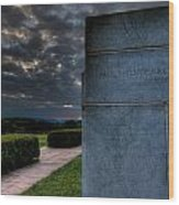 Paul Cret Gettysburg Monument Wood Print by Andres Leon