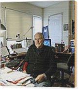 Paul Ekman, American Psychologist Wood Print by Volker Steger