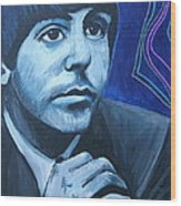Paul Mccartney Wood Print