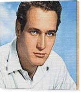 Paul Newman, Portrait Ca. 1950s Wood Print by Everett