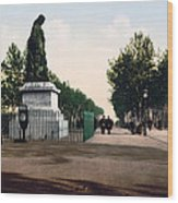 Paul Riquet Statue And The Allees In Beziers - France Wood Print
