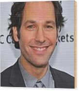 Paul Rudd At Arrivals For Ifps 20th Wood Print by Everett