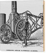 Paving Machine, 1879 Wood Print
