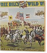 Pawnee Bill Poster, 1895 Wood Print