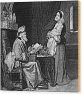 Pawning, 19th Century Wood Print