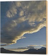 Payachatas Mountains. Republic Of Bolivia.  Wood Print