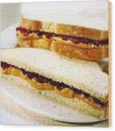 Pbj Sandwich Wood Print