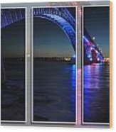 Peace Bridge 01 Triptych Series Wood Print