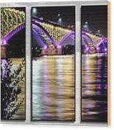 Peace Bridge 02 Triptych Series Wood Print