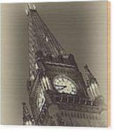 Peace Tower Wood Print