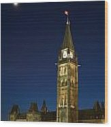 Peace Tower, Parliament Building Wood Print
